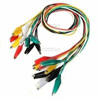 10Pcs Crocodile Clips Jumper Wire 50Cm Double-Ended Test Lead Cable Alligator he