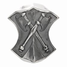 Schild mit zwie mal Axt Charm Rebeligion Silber f Lederarmband Black Rock Large