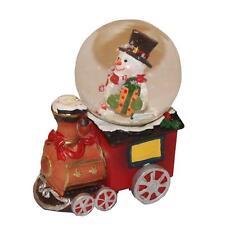 Mini treno 45mm Palla Di Vetro Con Neve pupazzo Decorazione Natale
