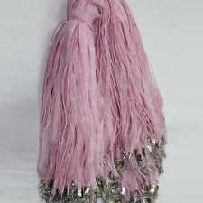 Organza Voile Ribbon Necklace Silk Cord Thread Wire Lobster Clasp 5/20Pcs DIY