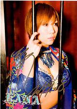 Asuka Kana Autograph 8 X 11 Photo WWE NXT Woman's Champ DIVA AUTO 2011-9-8 SEXY