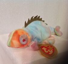 RARE! Authentic Ty Beanie Babies Iggy - With Errors -  P.V.C PVC Pellets - 1997