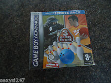 Nintendo gameboy advance Majesco's sport pack 3 en 1 nouvelle usine scellée nos