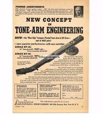 1956 Audak Audax KT-16 Hi-Fi Turntable Tone Arm Vtg Print Ad