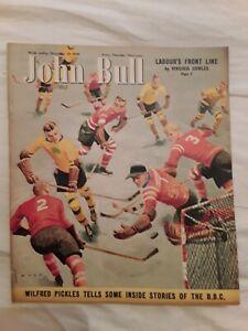 Ice Hockey 1949 - John Bull Magazine Cover