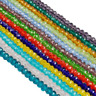 50pcs 4*6mm Rondelle Faceted Crystal Glass Beads Loose Spacer Beads Jewelry
