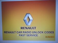 INSTANT* ALL RENAULT CAR MODELS RADIO UNLOCK CODE DECODE SERVICE 1ST CLASS
