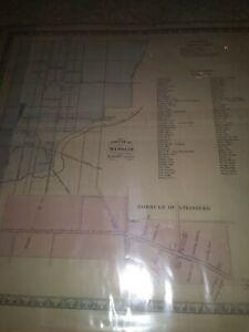Pre Civil war 1820 Map. Manheim. Strasburg PA. List of residents and occupation.