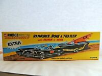 Corgi Product BATMOBILE  AND TRAILER BATMAN & ROBIN empty box repro