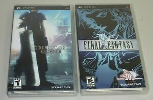 final fantasy & final fantasy vII crisis core game sony psp complete