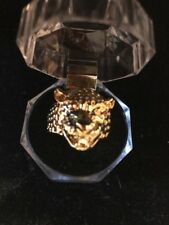 Mens Leopard Fashion Ring Yellow Gold Size 10.25 Ships N 24h