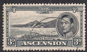 Ascension Island 1940 KGV1 3d Black & Grey Used SG 42a ( D64 )