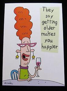 Oatmeal Studios Greeting Card Birthday Humor Funny Multi Color R3634
