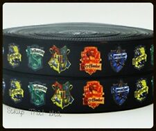 "HARRY POTTER. Hogwarts Houses  RIBBON. 7/8"" Grosgrain. Scrapbooking/Cake/Craft"