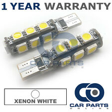 2X WHITE W5W 501 SIDELIGHT NUMBER PLATE INTERIOR REPEATER 13SMD LED BULBS CANBUS