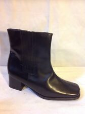 The Shoe Tailor Black Ankle Leather Boots Size 4