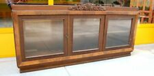 Piccola vetrina deco in rovere massello fronte 159 cm