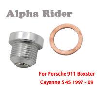 For Porsche Magnetic Oil Drain Sump Plug Carrera 911 Boxster 986 997 987 Cayman
