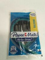 12 packs= Lot of 120 Paper Mate Write Bros Black Ink 1.0mm Medium Ballpoint Pens