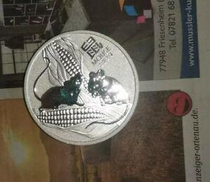 1 Unze Silbermünze Australien Lunar3 Erstausgabe 2020 Maus