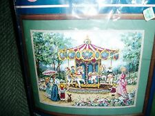 SUNSET NEEDLEPOINT KIT  A RIDE IN THE PARK  New in package Made in USA Nice gift