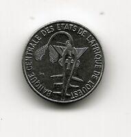 CENTRAL AFRICAN STATES 1 FRANC 2003 UNC THREE GIANT ELAND LEFT DATE BELOW,DENOMI