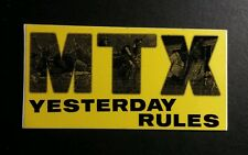 MTX YESTERDAY RULES YELLOW BLACK  2x4 MUSIC STICKER