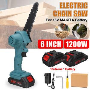 1200W 6'' Mini Einhandsäge Holzbearbeitung Elektrische Kettensäge Akku-Cutter