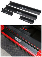 Fit For 2007-2018 Jeep Wrangler JK 4dr Black Door Sills Scuff Plate Entry Guards