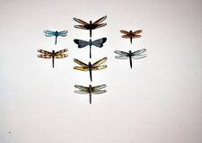Dragonfly Magnets Set of 8 Multi Color Insects Refrigerator Magnets Home Decor