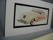 1941 Chrysler Pace Car Indy 500   Artist Auto Museum  Full color Illustrated