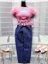 "BARBIE 1998 FASHION AVENUE ""AUTHENTIC JEANS"" Pink T & Denim_19185_NEW DeBOXED"