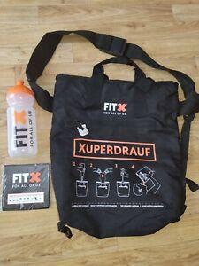 FitX Umhängetasche Sporttasche ShoppingBag schwarz Trinkflasche Fitnessstudi NEU