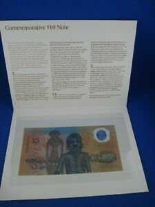 1988 First Polymer Commemorative $10 Note in Folder