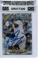 Clint Frazier New York Yankees 2018 Bowman Chrome ROY Favorites Signed Card CAS