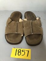 Tommy Bahama Men Size 13 Sandals Ahoy Mate Slides Brown Leather TB-203