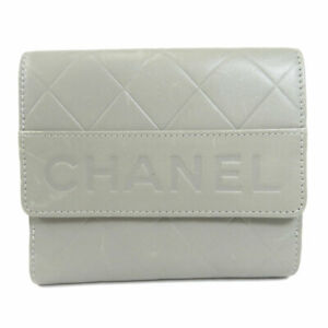 CHANEL   Bifold Wallet with Coin Pocket logo Calf