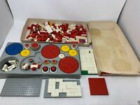 Huge Lot Of Vintage 1960s & 70's Lego Plates Wheels Gears Boxes Parts & Pieces
