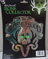 1144 Michael Waddell's Bone Collector Black / Chrome Auto Decal Deer Head