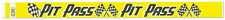 Yellow Pit Pass TYVEK Wristbands 500 in a pack