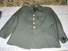 US army GI military dress coat AG 489 jacket womens ball blend SIZE 14S+