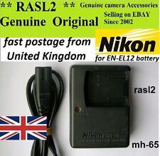 ORIGINALE Nikon mh-65 CARICABATTERIE en-el12 Coolpix a900 s1100pj s9400 s9300 s8200