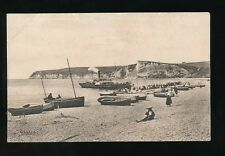 Devon SEATON Beach & paddle steamer Used 1909 PPC by Frith