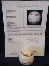 Billy Martin Autographed Official American League (Brown) Baseball– Full JSA LOA