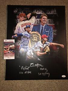 Randy johnson Signed 16x20 custom Canvas JSA Authentication