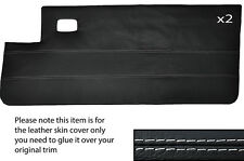 White stitch 2x pleine peau cuir carte porte couverture fits Peugeot 205 CJ CABRIO