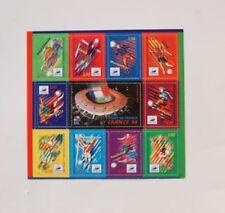 FEUILLE DE 11 timbres FRANCE 98 sport football coupr du monde