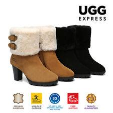 【EXTRA15%OFF】UGG Women Shearling Boots Heels Australian Sheepskin Wool Candice