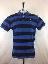 Polo Mens Short-Sleeve T-shirt Black & Blue striped Size L