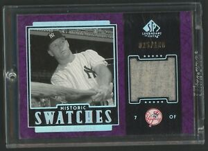 2003 SP Legendary Cuts Historic Swatches Mickey Mantle HOF Jersey 25/100